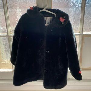 Black Fur coat the children's place